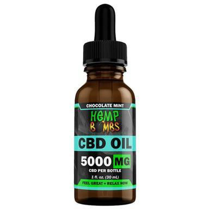 Hemp Bombs - CBD Tincture - Broad Spectrum Chocolate Mint Oil - 300mg-5000mg