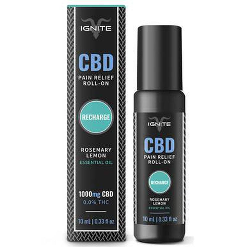 Ignite CBD - CBD Topical - Roll-On Oil Rosemary-Lemon - 1000mg