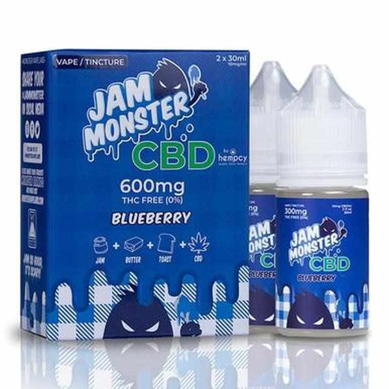Jam Monster CBD - CBD Vape - Blueberry - 600mg-2400mg