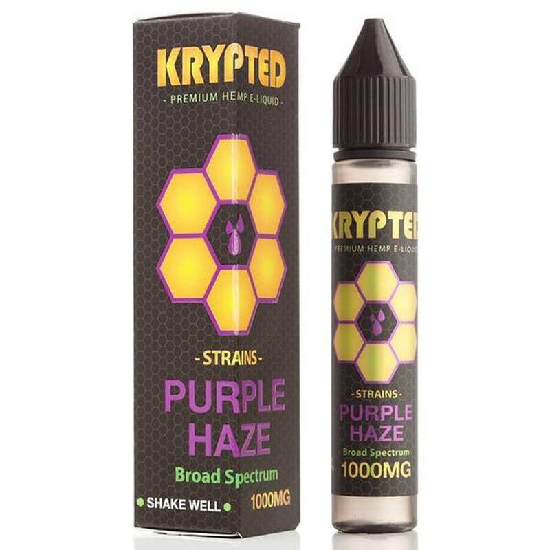 Krypted CBD - CBD Vape Juice - Purple Haze - 250mg-1000mg