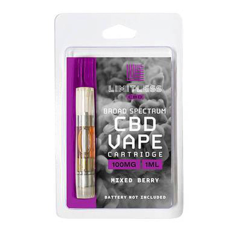 Limitless CBD - CBD Vape Cartridge - Mixed Berry - 100mg