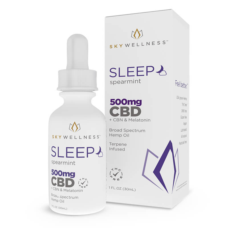 Sky Wellness - CBD Tincture - Sleep Spearmint - 500mg-1000mg