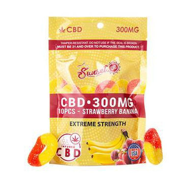 Sunset CBD - CBD Edible - CBD Infused Strawberry-Banana Rings - 20mg