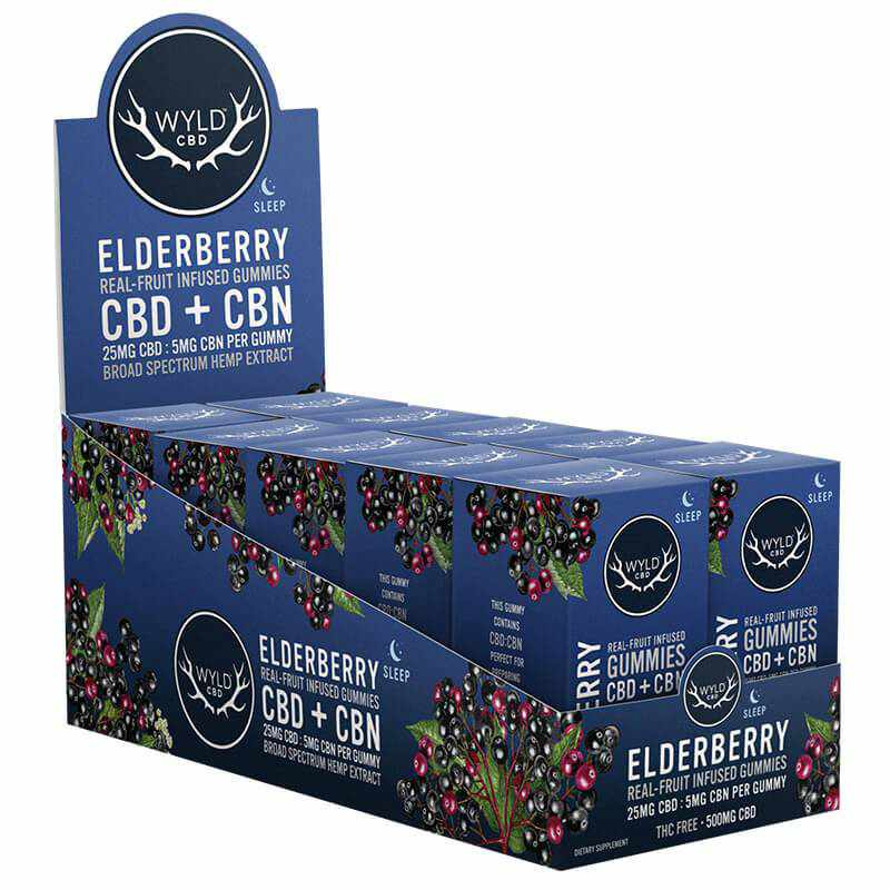 Wyld CBD - CBD Edible - Elderberry CBN Gummies - 25mg