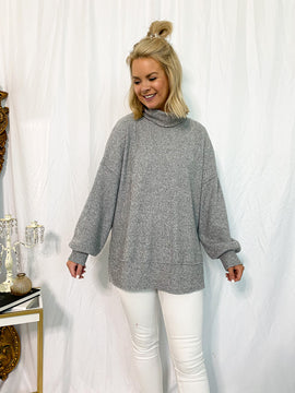 The Abby Thermal Top- Heather Gray