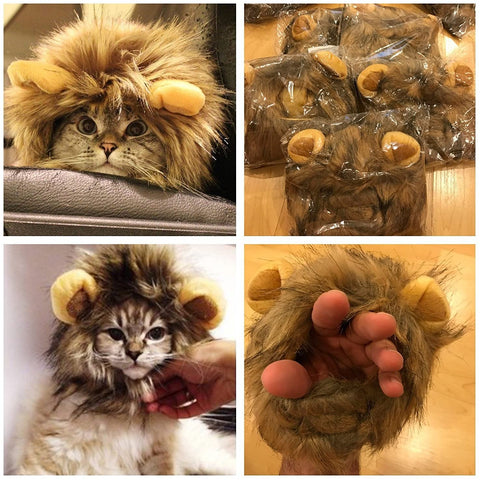 Cat and Dog Lion Costume Headband