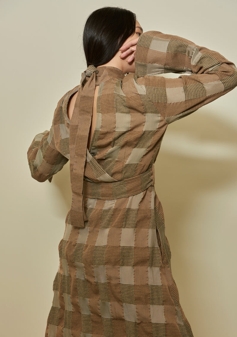Patchwork Check Dress