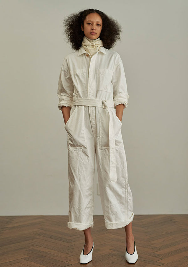 Cotton Twill Jumpsuit