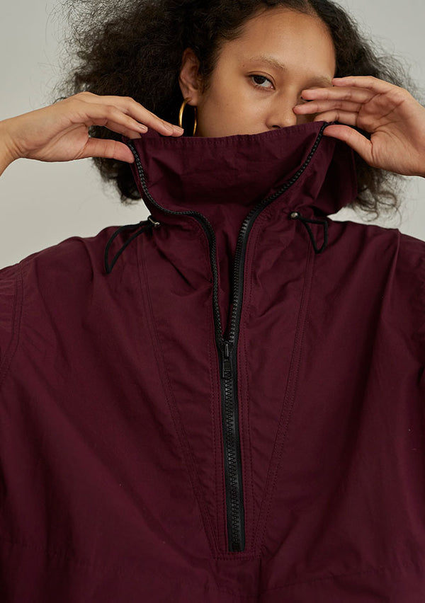 Silicon Coating Anorak BORDEAUX