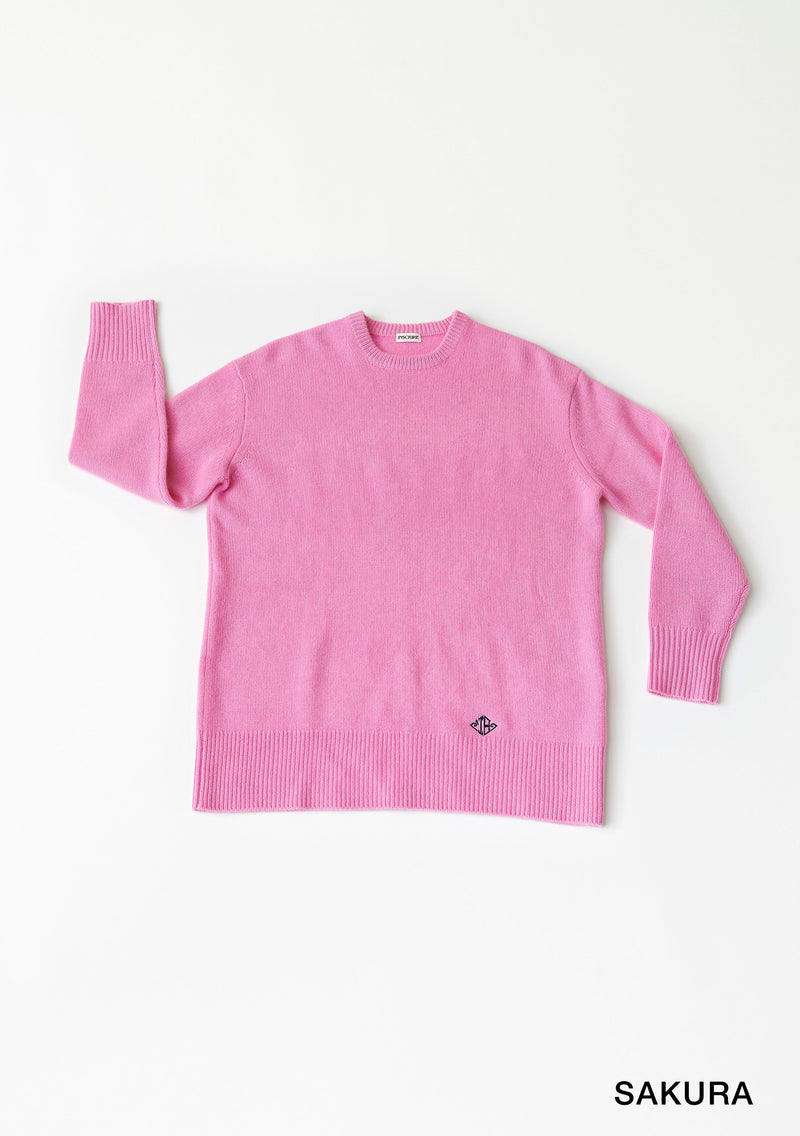 Wide Crew neck Pull Over