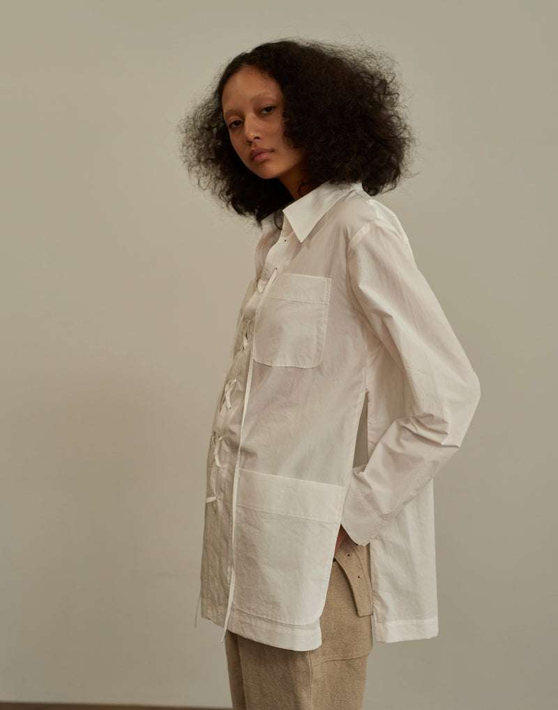 Cotton Safari Shirts WHITE