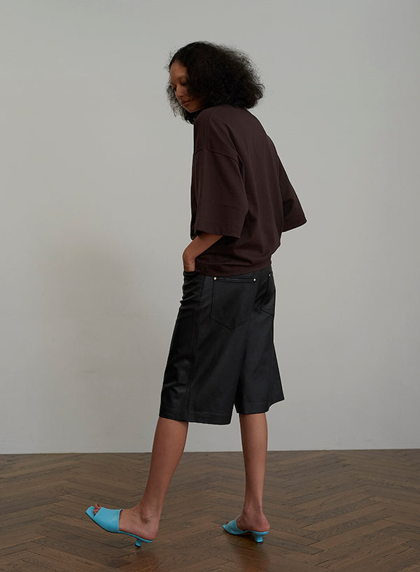 Sheep Skin Short Pants BLACK