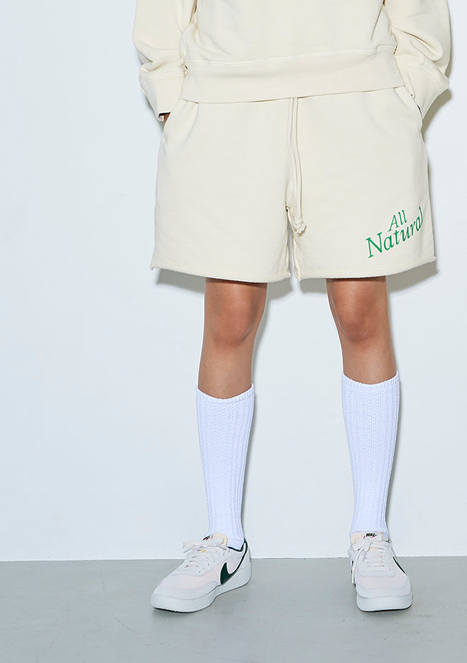All Natural Sweat Shorts CREAM