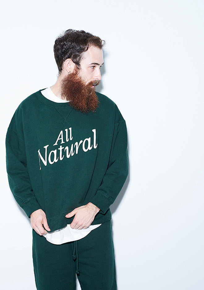 All Natural Crew Neck GREEN