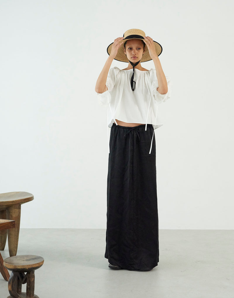 Cupra Washer Maxi Skirt BLACK