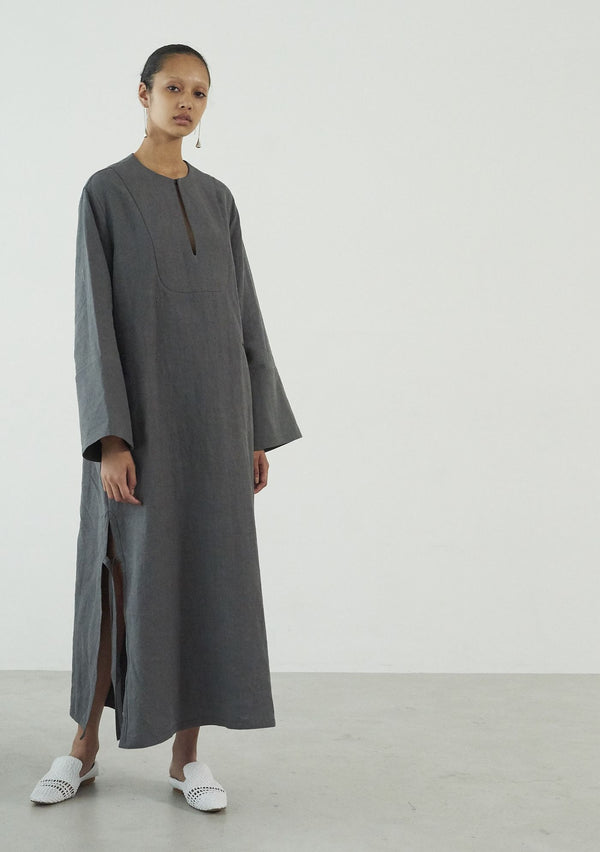 French Linen Dress GREY