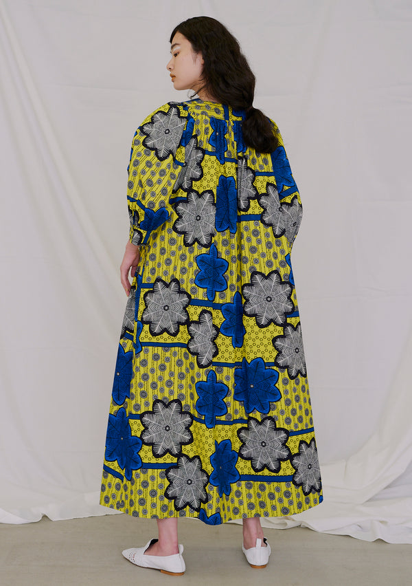 Africa Print  Ballon Sleeve Dress PRINT