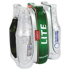 Castle Lite 340ml NRB - 6 Pack - Flytap Liquor Shop