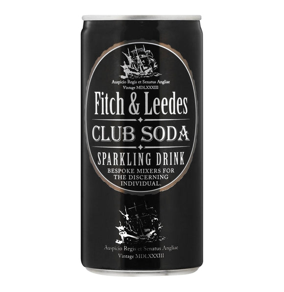 Fitch & Leedes Soda Water 200ml Can - 6 pack - Flytap Liquor Shop