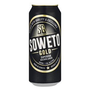 Soweto Gold 500ml Can - 6 Pack - Flytap Liquor Shop