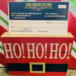 Sask Cheese Factory Gift Cerctificate