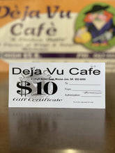 Load image into Gallery viewer, Deja Vu Cafe - Gift Card