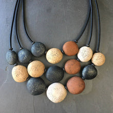 Load image into Gallery viewer, Pebble Necklace Set - Chocolate