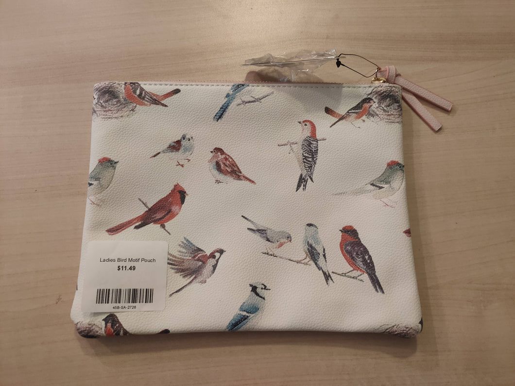 Ladies Bird Motif Pouch