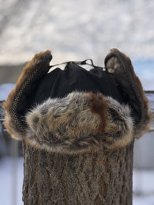 Winter Hat - Black/Brown