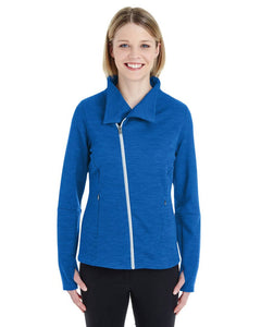 Ladies Melange Fleece Jacket