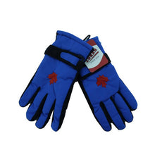 Load image into Gallery viewer, Ladies Ski Gloves with Strap and Maple Leaf