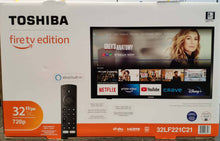 "Load image into Gallery viewer, TOSHIBA 32"" 720p HD LED SMART TV - FIRE TV EDITION"