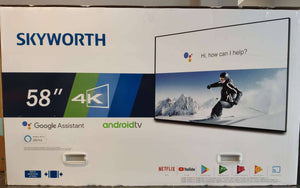 "SKYWORTH 58"" 4K Google Assistant Android TV"