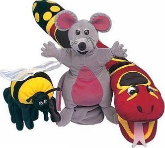 Jolly Phonics Puppets, set of all 3*-(ON ORDER)