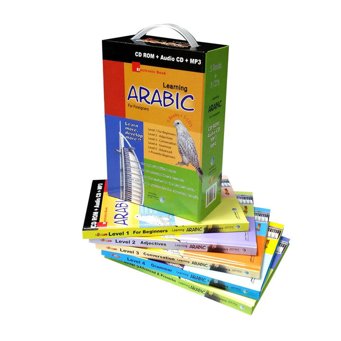 Learning Arabic  For None Arabs 5 Books + 5 Audio Cds