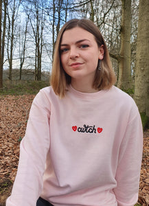 Cwtch Sweatshirt in Light Pink
