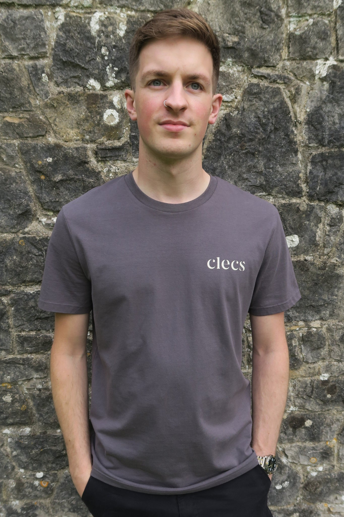 Clecs T-Shirt in Charcoal Grey
