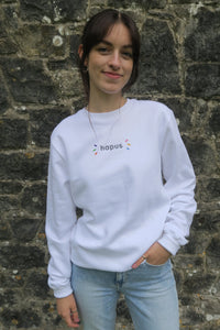 White organic cotton hapus sweatshirt