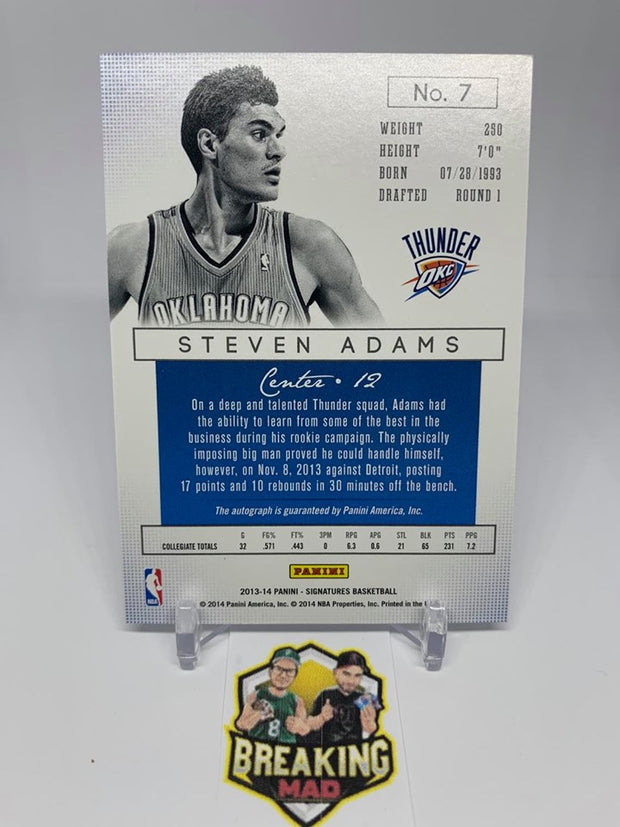 #S3 - 13-14 Steven Adams Panini Signatures #148/199 Sticker Autograph Rookie #7