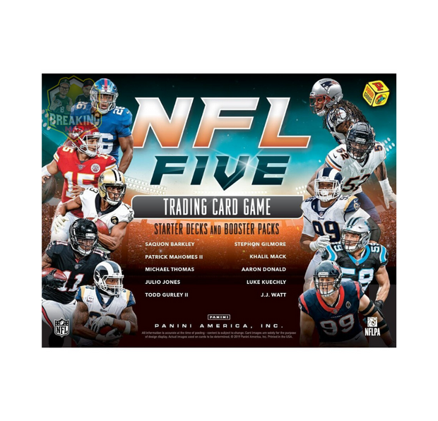 2019 Panini NFL Five Trading Card Game Booster Box