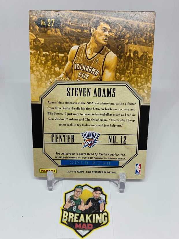 #S5 - 14-15 Steven Adams Panini Gold Standard 161/199 Gold Rush On Card Autograph #27