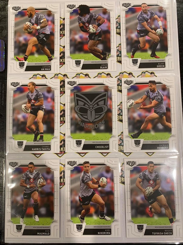 #085- 2020 NRL Elite Warriors Full Team Base Set $12