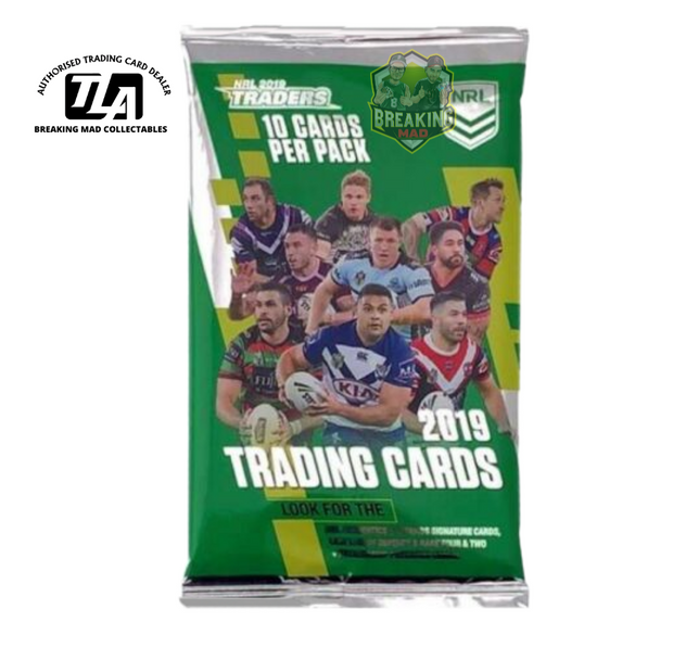 NRL Rugby League - 2019 Traders Cards Pack (10 Cards)