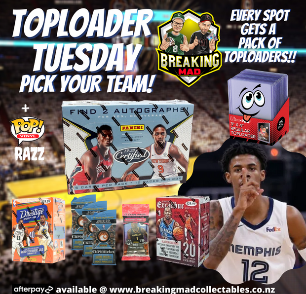 Top Loader Tuesday - Pick Your Team (PYT) BM#054 (15th September)