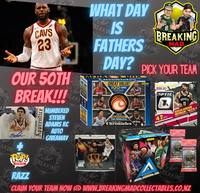 What Day is Fathers Day?  NBA PICK YOUR TEAM BREAK- BM#050 (5th September)