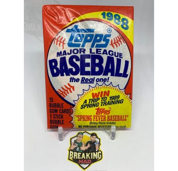 1988 Topps Major League Baseball Pack