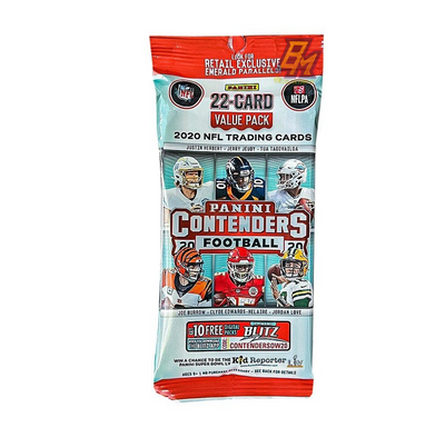 2020 Panini Contenders NFL Football Value Pack - 22 Cards