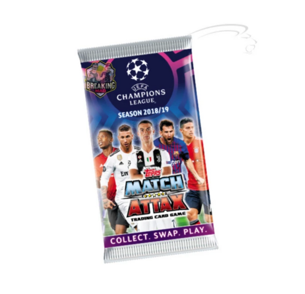 2018/19 Topps Match Attax  UEFA Champions League Soccer Trading Card Game Single Pack