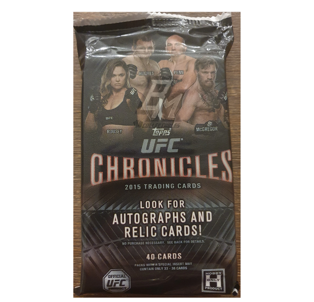 2015 Topps UFC Chronicles Hobby Pack - 40 Cards