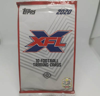 2020 Topps XFL Football Hobby Pack
